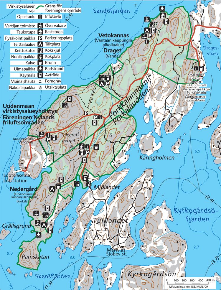 Kartta / Porkkalanniemi