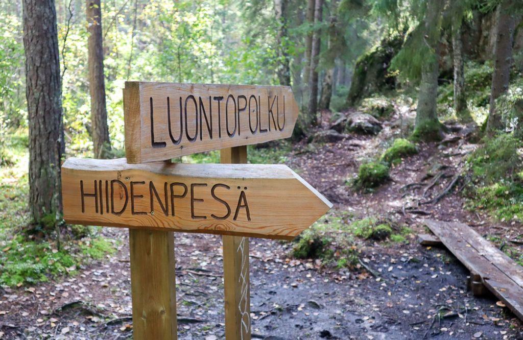 Hiidenpesä, Sorlammen luontopolku, Espoo