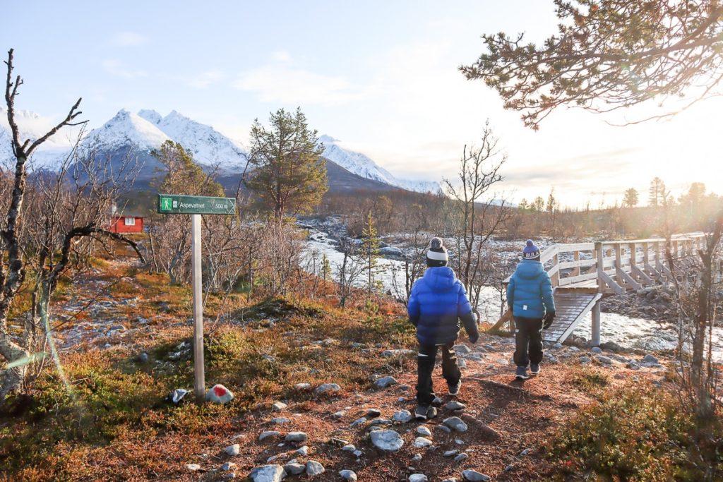 Aspevatnet / Lyngenin Alpit