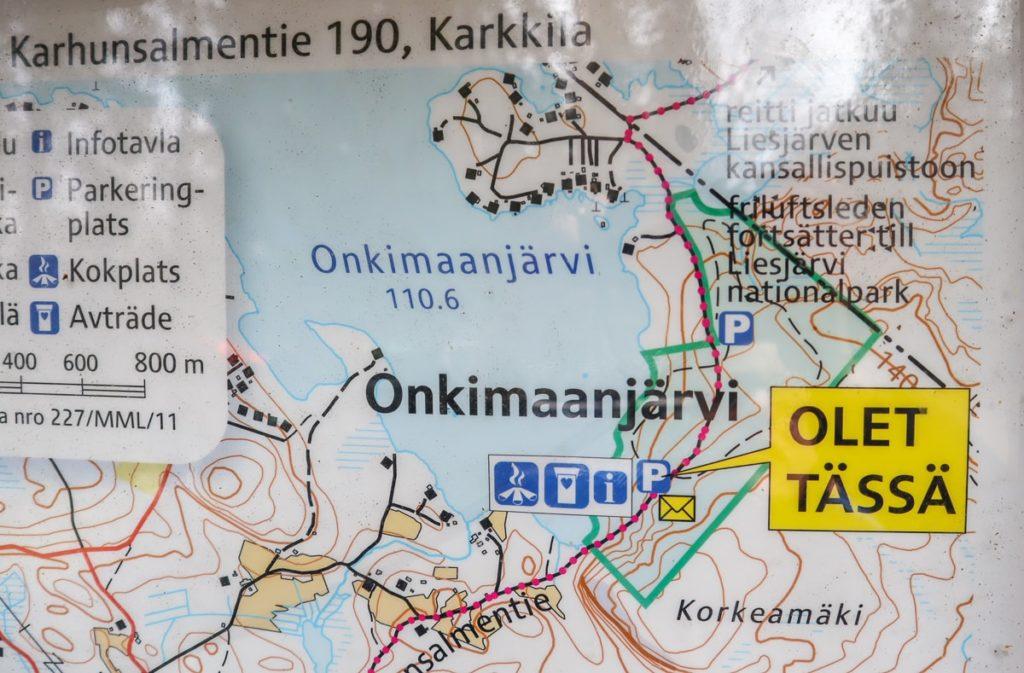 Onkimaanjärvi / kartta