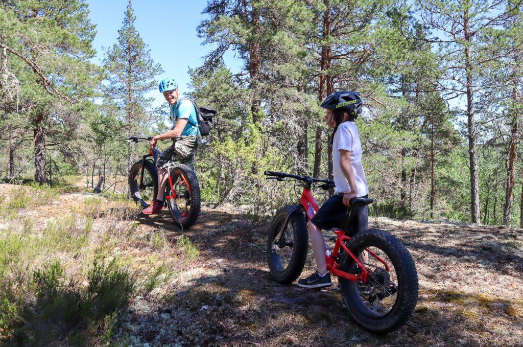 Tulossa uusi fatbike-reitti lapsille / Nuuksion Pohjoinen Portti / biking.fi