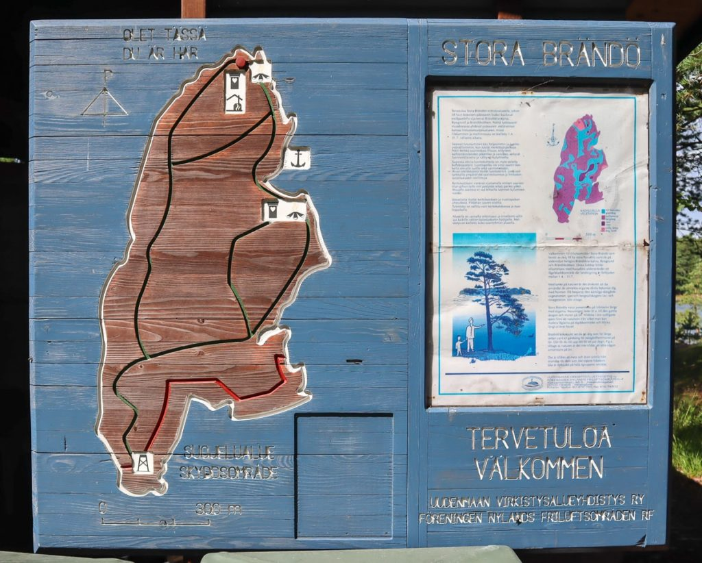 Stora Brändö / kartta