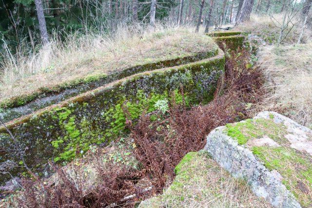 1. maailmansodan linnoitusketju / juoksuhauta