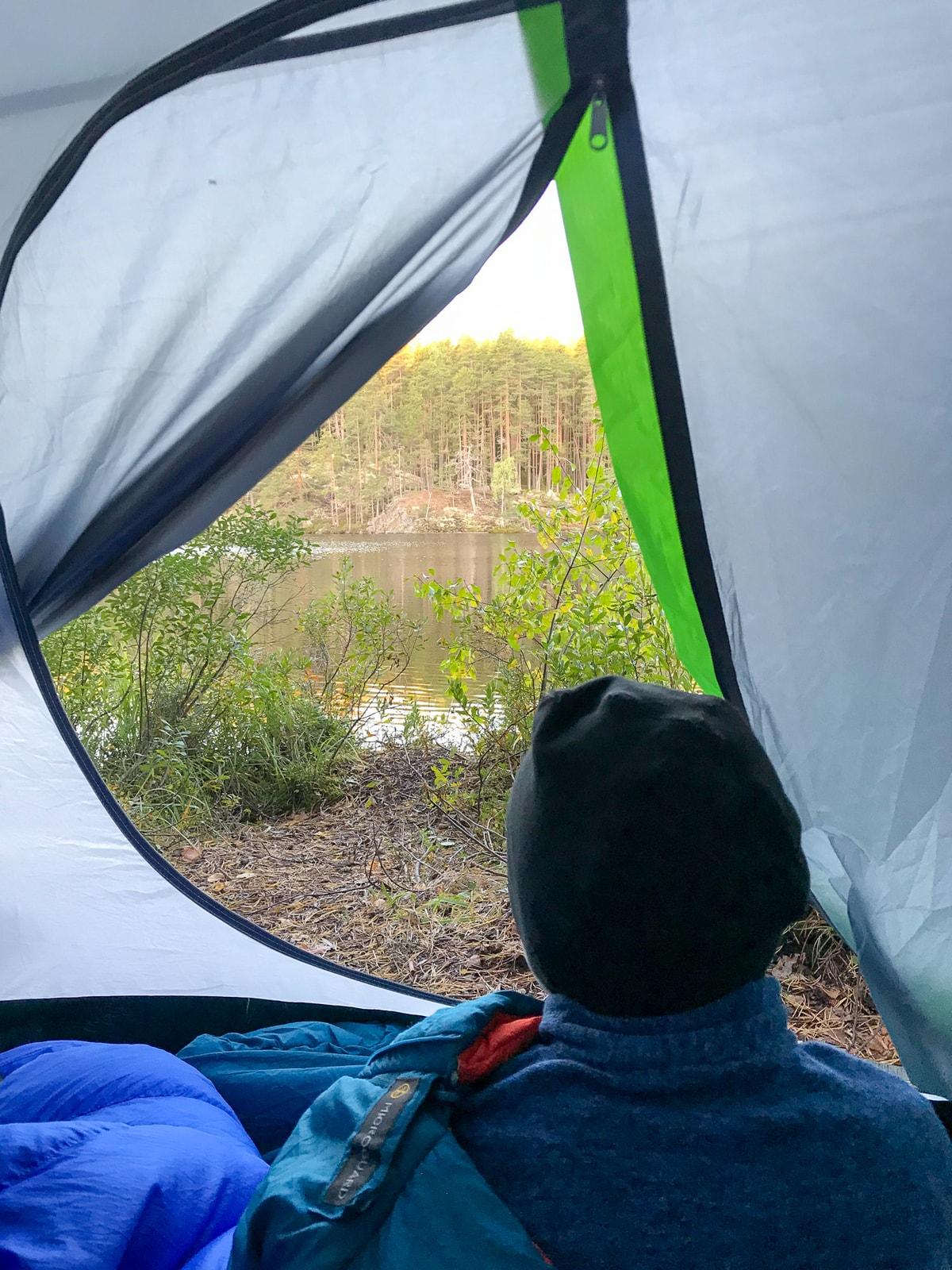 Repovesi / isän ja pojan telttaretki