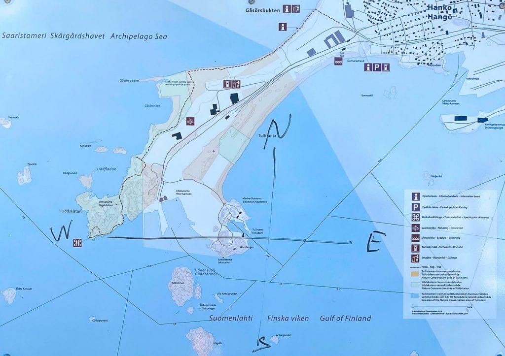 Tulliniemen luontopolku / kartta