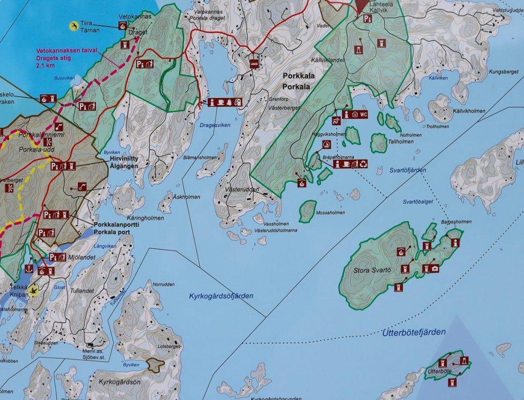 Lähteelä ja Stora Svartö / kartta
