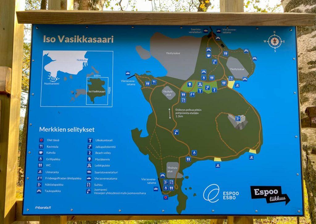 Iso Vasikkasaari / Espoo / Kartta